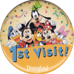Disneyland 1st Visit Button